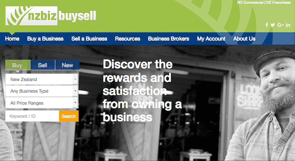 NZ Business buy and sell website
